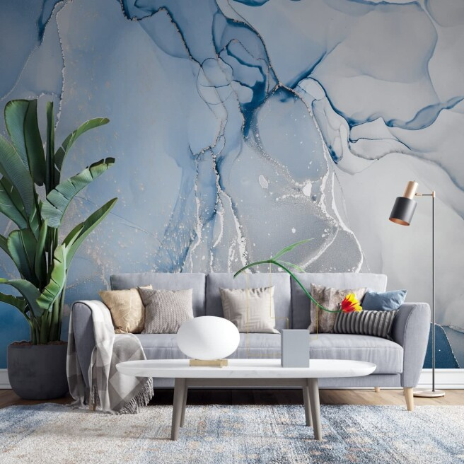 Фотообои голубое серебро