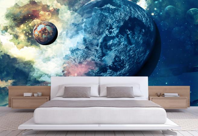 Фотообои синяя планета
