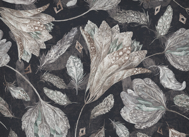 Цветы из перьев