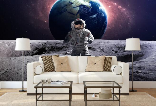 Фотообои Космонавт на луне