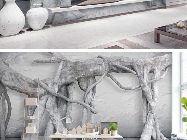 Фотообои Переплетенные ветки деревьев