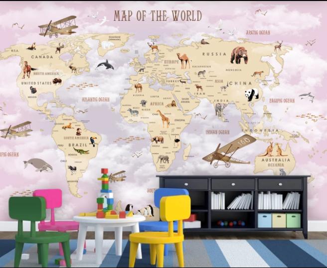 Фотообои карта