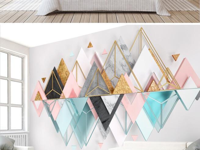 Фотообои Отзеркаливание треугольников