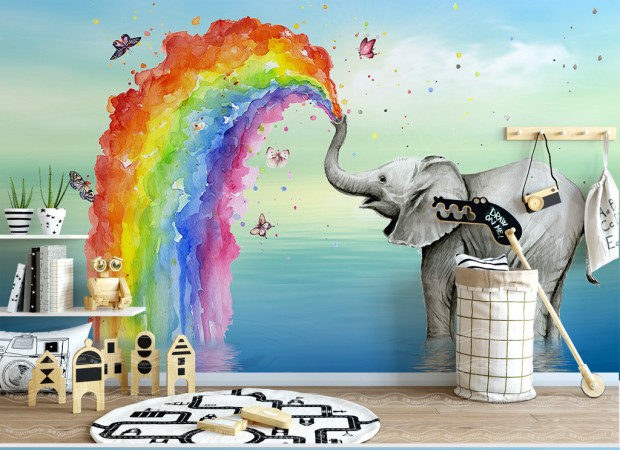 Радуга и слон