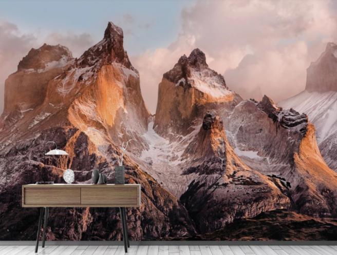 Фотообои горы и снег