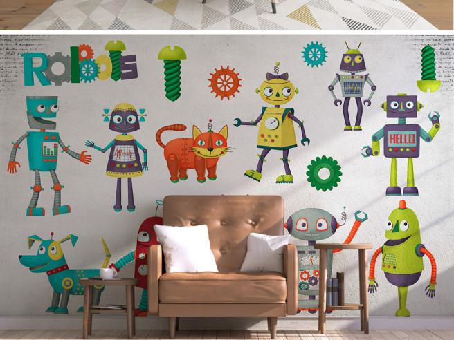 Разноцветные роботы