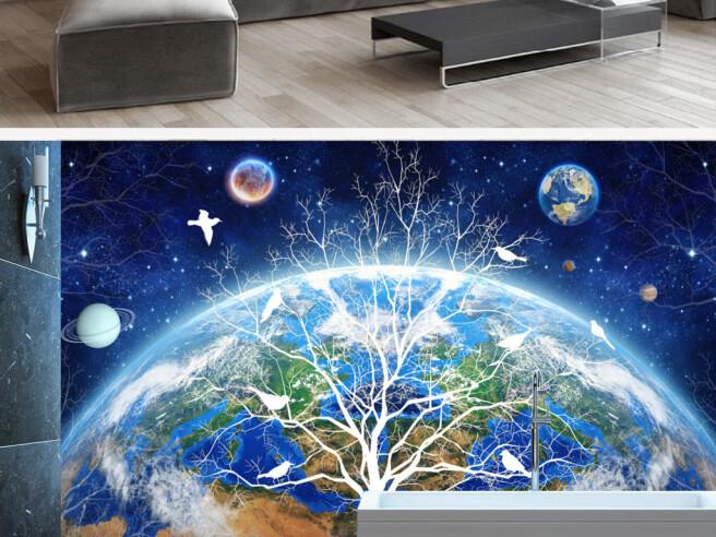 Дерево на фоне земли