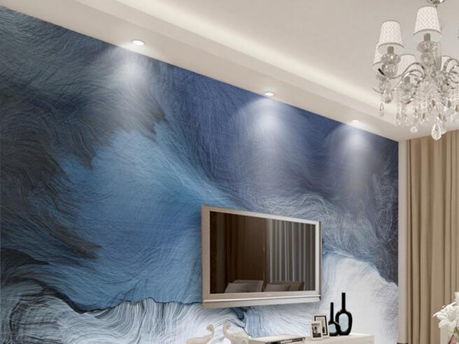 Бело-голубые волны