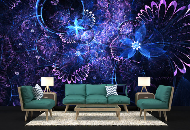 Ультрафиолетовые цветы