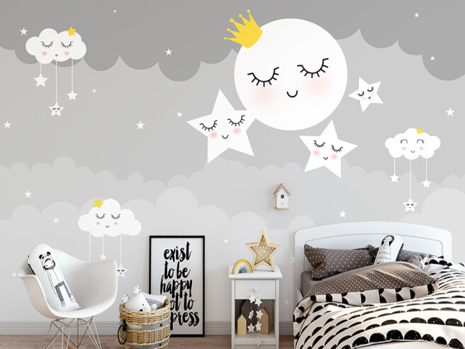 Спящая луна и звезды