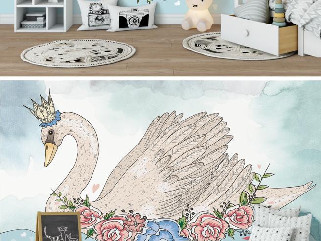 Фотообои Лебедь — царевна