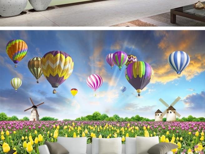 Фотообои Поле тюльпанов