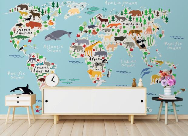 Густонаселенная карта мира