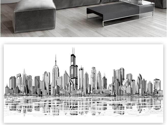 Фотообои Черно-белые небоскребы