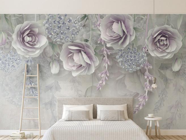 Фотообои Сиреневые розы
