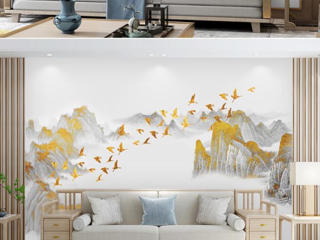 Золотые птицы над вершинами