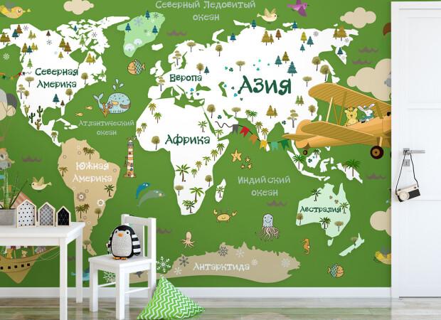 Карта в зеленых цветах