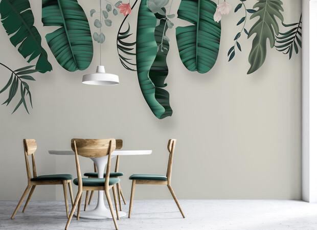 Свисающие листья пальм