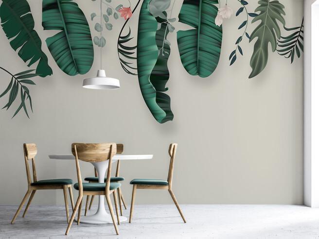 Фотообои Свисающие листья пальм