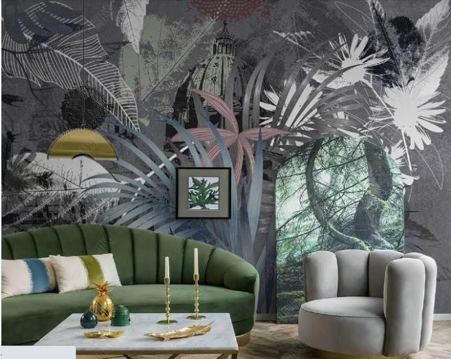 Фотообои тропический орнамент