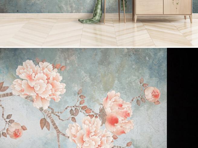 Фотообои Алые цветы на ветке
