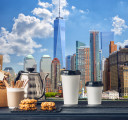 Фотообои Город и кофе