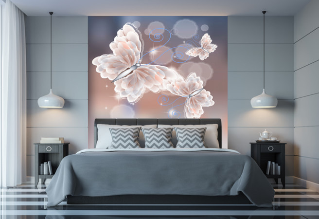 Фотообои призрачные бабочки