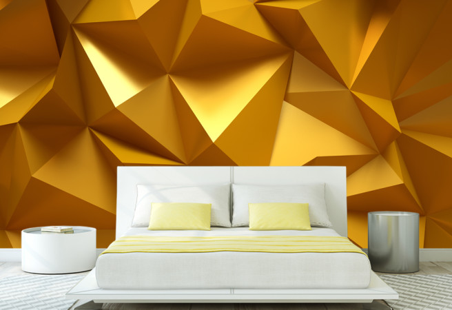 Фотообои Геометрия золота