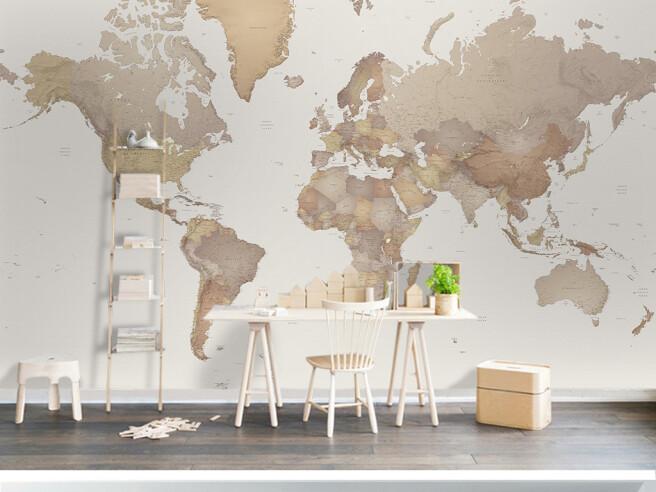 Фотообои Мировая карта