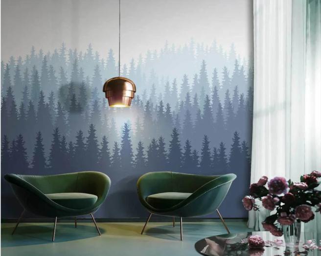 Фотообои лес в современном стиле