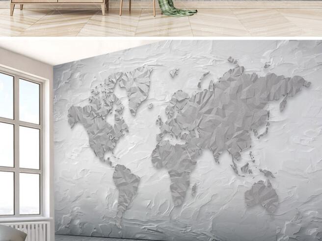 Фотообои Рельефный земной шар