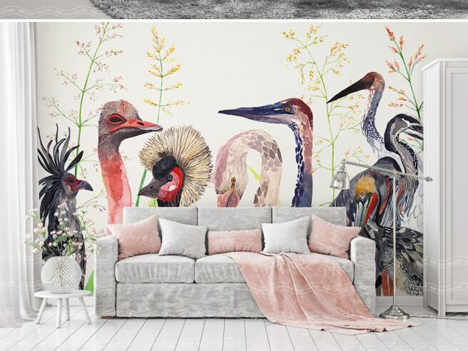 Фотообои Головы птиц