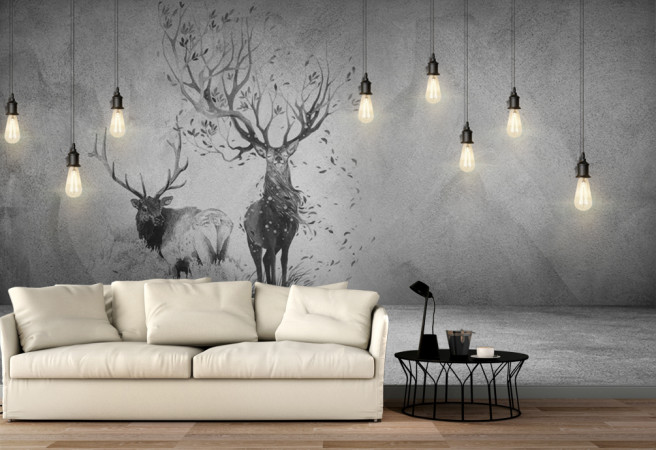 черно белые олени