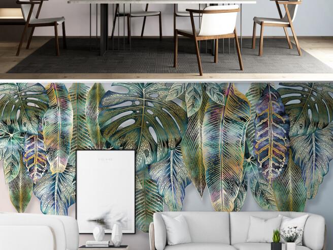 Фотообои Крашенные листья пальм