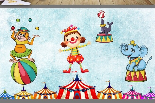 Фотообои Цирковые работники