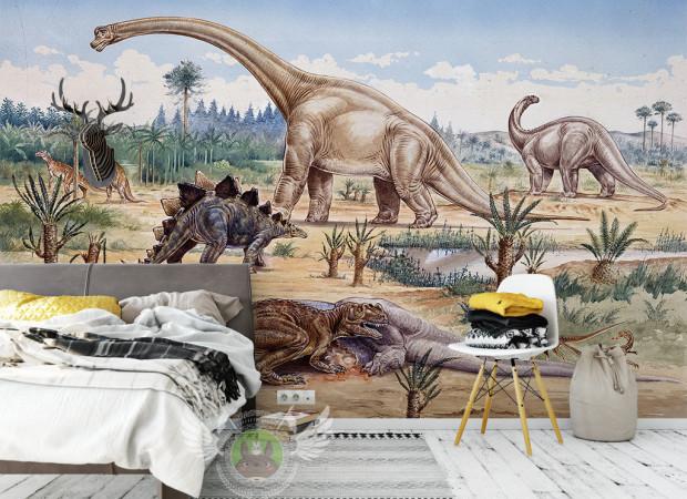 Динозавры у озера