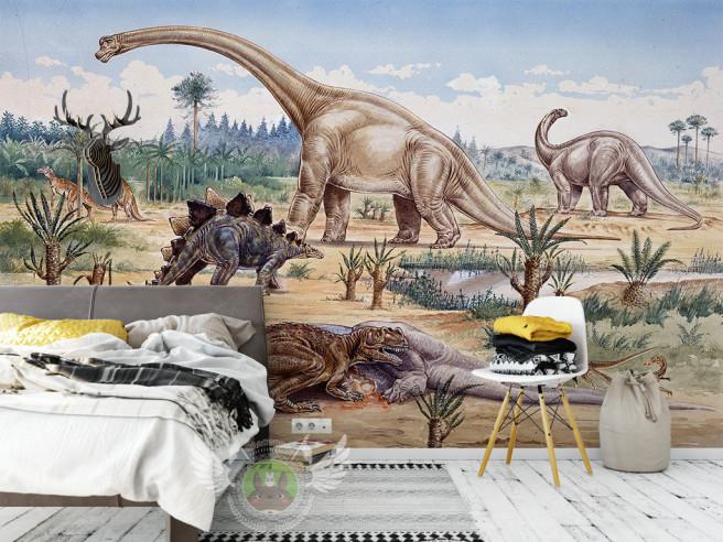 Фотообои Динозавры у озера