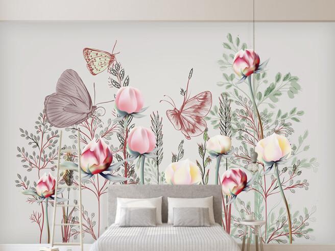 Редкие цветы и бабочки