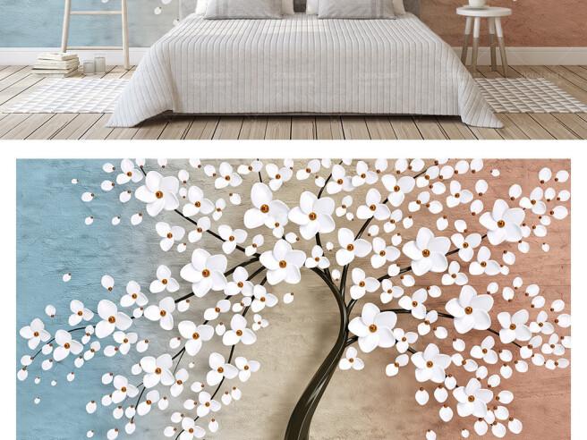 Фотообои Белые цветы на дереве