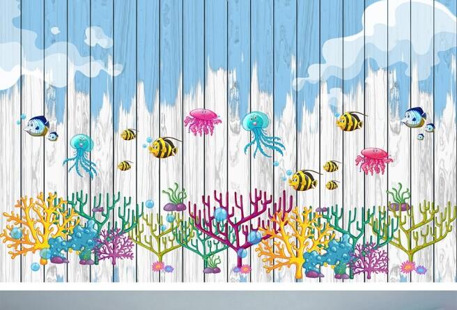 Фотообои Осьминоги и кораллы
