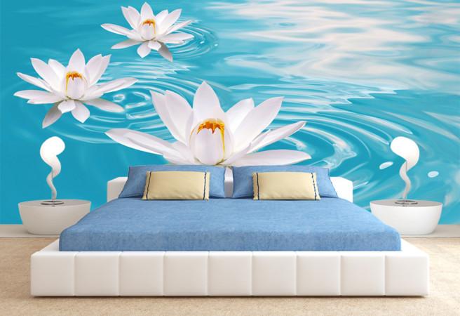 Фотообои цветы в воде