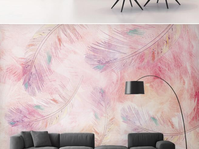 Перья розовых фламинго