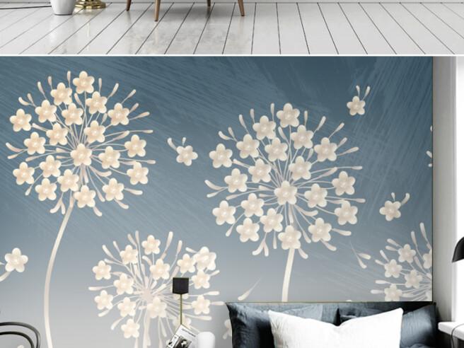 Фотообои Редкие бежевые цветы