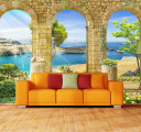 Фотообои море в арке