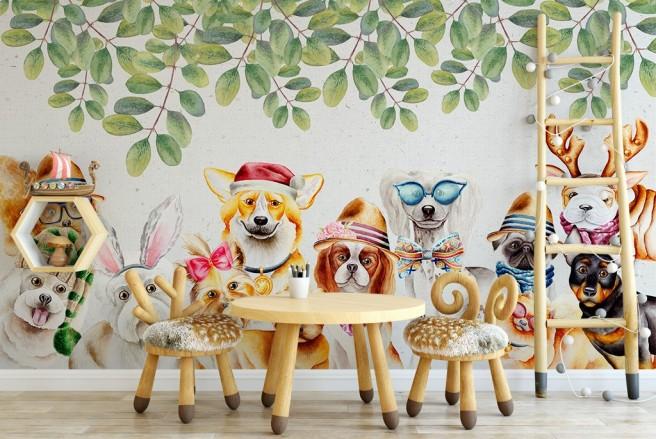 Собаки под ветками