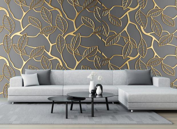 золотой узор листвы