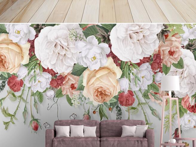 Фотообои Крупные яркие цветы