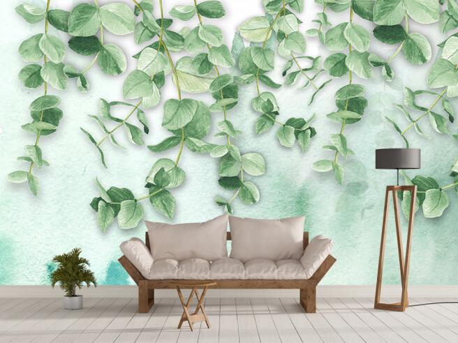 Фотообои Круглые листья