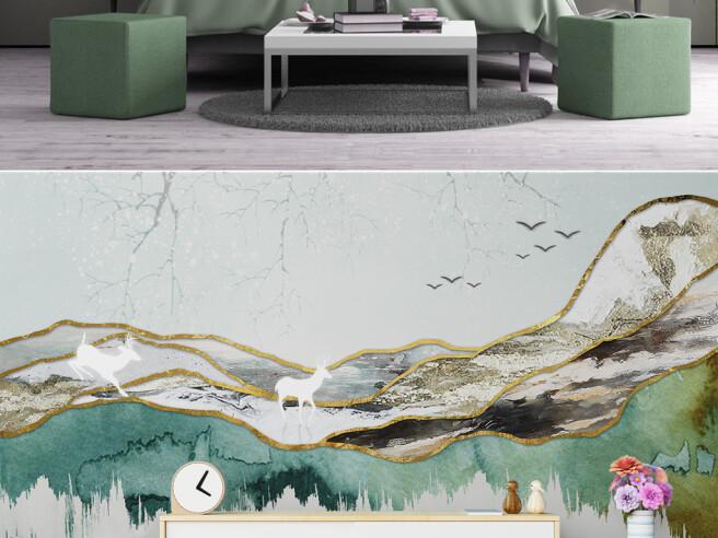 Фотообои Белые олени в горах