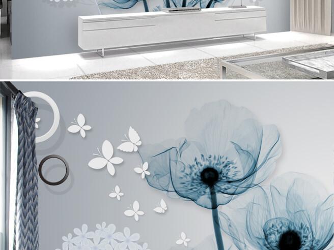 Фотообои Прозрачно-голубой цветок